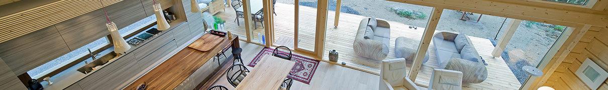 Interieur houten woning